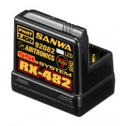 Sanwa RX-482 Receiver with integrated antenna (2.4 GHz, FH4, 4-Channel, SSR, SSL)