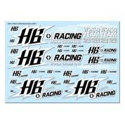 HB Racing World Team Decals White HB204074