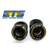Ride F1 Rear Rubber Slick Tires GR Compound 61mm Preglued Asphalt