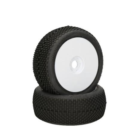 HB Black Jack monté collé (Red/White Wheel/1:8 Buggy)