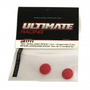 Pistons 16mm 8x1.2 inclinés Ultimate Racing UR1711