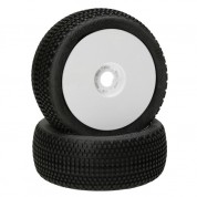 HB Gridlock V2 Mounted Tire (Soft/White Wheel/1:8 Buggy (2) HB204317