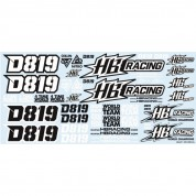 HB RACING D819 Decal HB204451