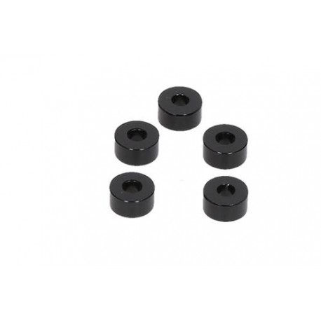 HB RACING Aluminum Washer Black 3x8x4mm (5) HB204623