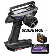 COMBO RADIO SANWA MT-44 PC AVEC RX482 + TX BATTERIE