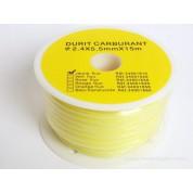 1 M de durite jaune fluo 2.5 x 5.5 mm