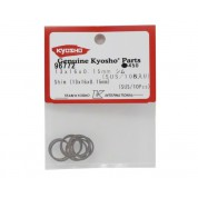 13x16x0.15mm Rondelles calages Kyosho  (10pcs)