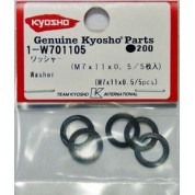 Kyosho kit rondelle calage M7x11x0.5 (5pcs)